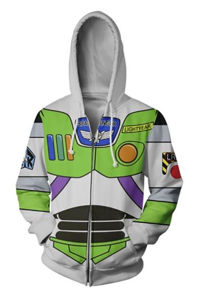New Arrival 3D Cool Colorblock Cosplay Long Sleeve Casual Zip Hoodie
