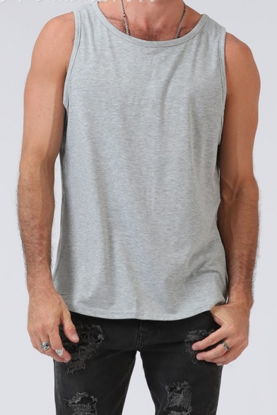 Men's Stylish Zip Closure Side Simple
