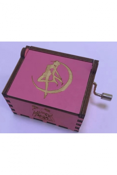 Popular Cartoon Sailor Moon Figure Printed Retro Hand Music Box