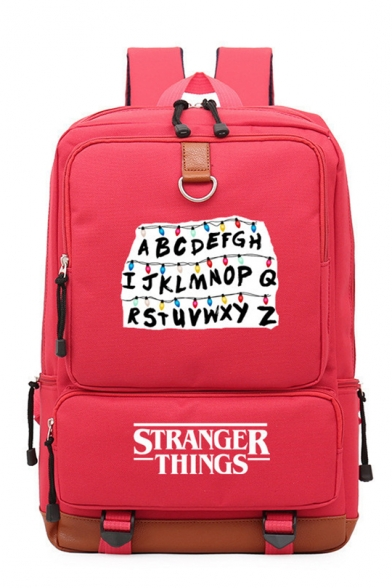 28*15*43cm Fashion Stranger Things Letter Printed Outdoor Traveling Backpack