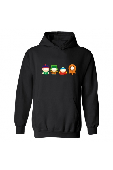 Lovely Cartoon South Park Figure Printed Long Sleeve Relaxed Chunky Hoodie