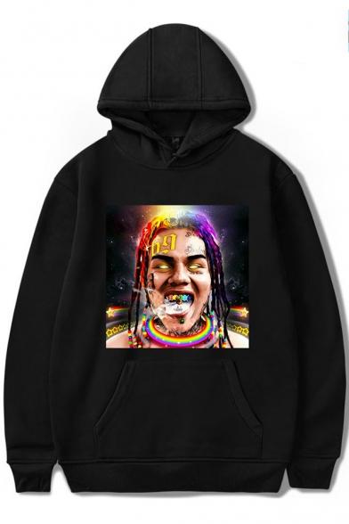 Hip Hop Street Style Long Sleeve Casual Character Pattern Hoodie