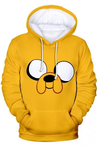 Men's New Stylish 3D Cartoon Adventure Time Long Sleeve Sport Casual Hoodie