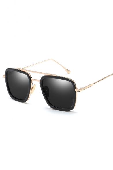 New Trendy Women Men Summer Retro Square Sunglasses