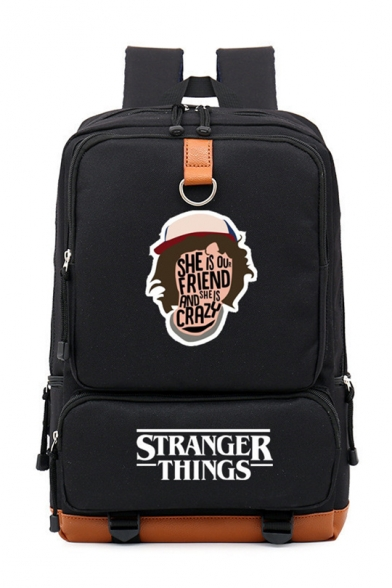 Trendy Stranger Things Outdoor Traveling Bag Laptop Bag Boy and Girl Nylon Backpack 28*15*43cm