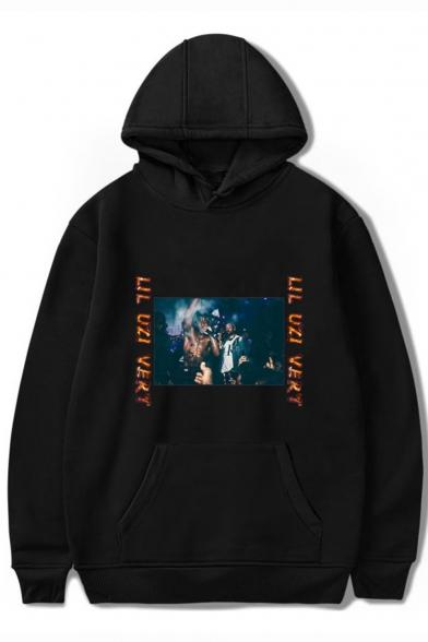 American Rapper Fashion Pattern Streetwear Loose Fit Pullover Souvenir Hoodie