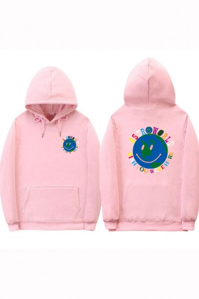 TRAVIS SCOTT ASTROWORLD Cartoon Smile Face Streetwear Pullover Hoodie