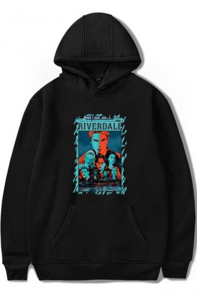 Popular Riverdale Figure Print Loose Fit Long Sleeve Hoodie