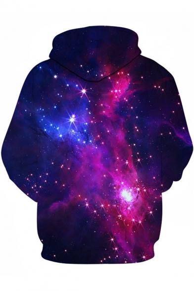 Cool 3D Purple Galaxy Print Breathable Sport Unisex Hoodie