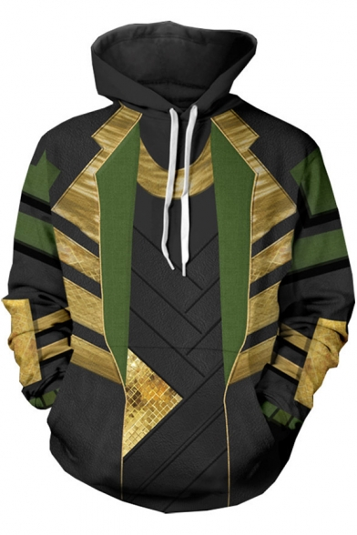 3D Printing Fashion Cool Cosplay Costume Pullover Black Hoodie