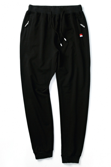 Mens Comfort Cotton Drawstring Waist Regular-Fit Casual Sport Sweatpants