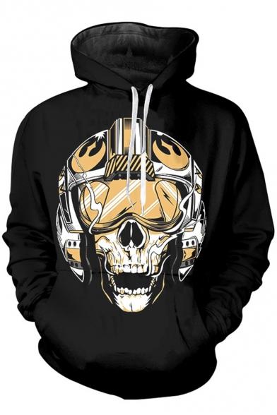 Star Wars Darth Vader Cool Skull Printed Sport Casual Long Sleeve Black Hoodie