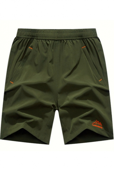 Mens Summer Basic Quick-Dry Casual Loose Breathable Running Shorts