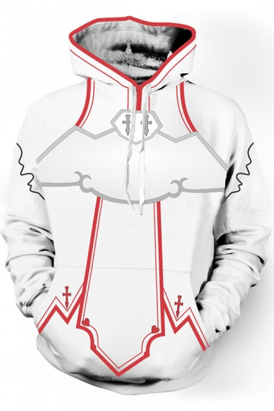 timeless design 46ae3 ddae9 Sword Art Online Cosplay Costume Pullover Loose Casual White