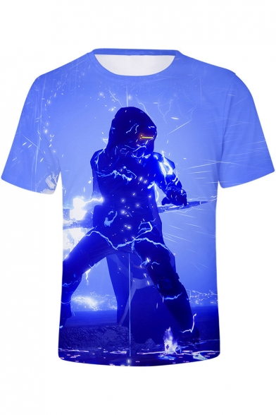 Destiny 2 3D Game Figure Pattern Basic Short Sleeve Round Neck Unisex Casual T-Shirt
