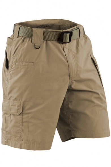 Men's Outdoor Training Simple Plain Casual Loose Military Cargo Shorts