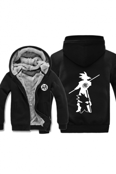 Dragon Ball Goku 3D Comic Character Printed Long Sleeve Warm Thick Casual Zip Up Hoodie