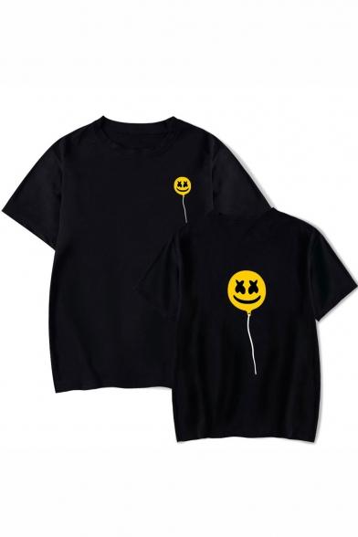 American Music Producer Cute Cartoon Lollipop Printed Short Sleeve Unisex Loose T-Shirt