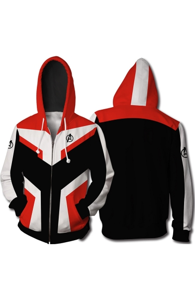 The Avengers New Trendy Quantum Battle Suit Cosplay Costume Zip Up Red Hoodie