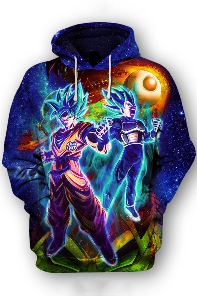 Dragon Ball Popular Comic Figure Printed Long Sleeve Pullover Sport Hoodie