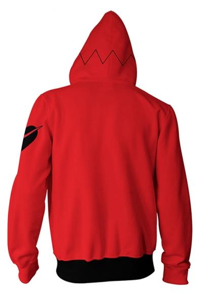 Persona Game Cosplay Costume Trendy Long Sleeve Zip Up Red Hoodie