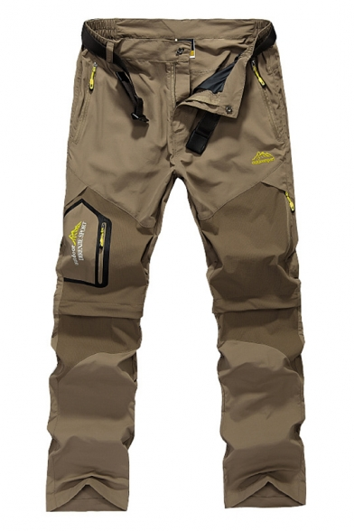 Men's Walking Windproof Breathable Camping Quick Drying Outdoor Detachable Convertible Hiking Pants