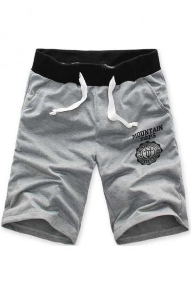 MOUNTAIN TOPS Drawstring-Waist Mens Summer Beach Casual Sweat Shorts