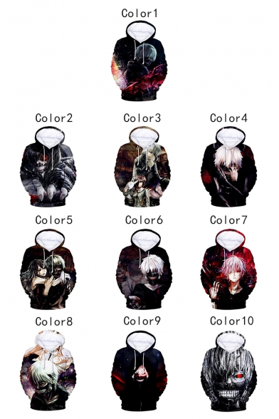Cool Comic Character Printed Long Sleeve Relaxed Fit Hoodie