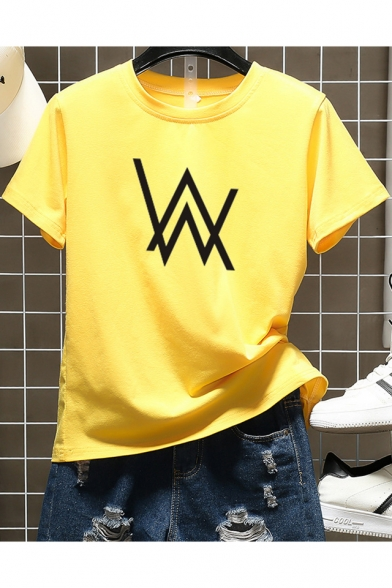 Popular Norwegian DJ Double W Logo Printed Short Sleeve Unisex Basic T-Shirt