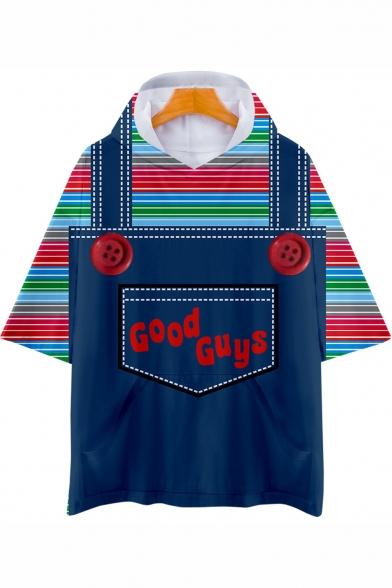 Good Guys Chucky Fashion 3D Printed Short Sleeve Blue Casual Hooded T-Shirt