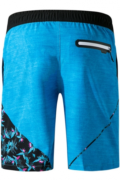 Fashion Lace-Up Drawstring Waist Stretch Surfing Quick-Dry Beach Swim Trunks