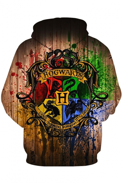 Harry Potter Hogwarts 3D Printed Long Sleeve Pullover Sport Casual Hoodie