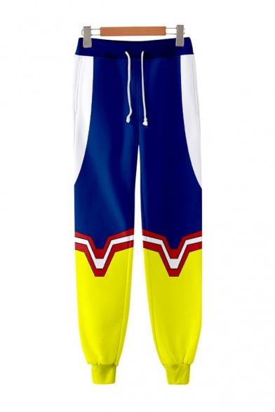 Popular 3D Comic Printed Loose Fit Sport Cotton Joggers Unisex Sweatpants