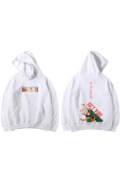 Funny Comic Letter GET YOU Printed Loose Casual Sport Unisex Hoodie