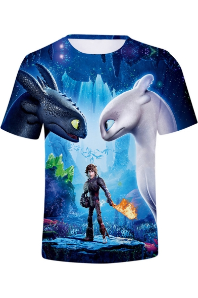 Popular Film 3D Figure Printed Unisex Short Sleeve T-Shirt