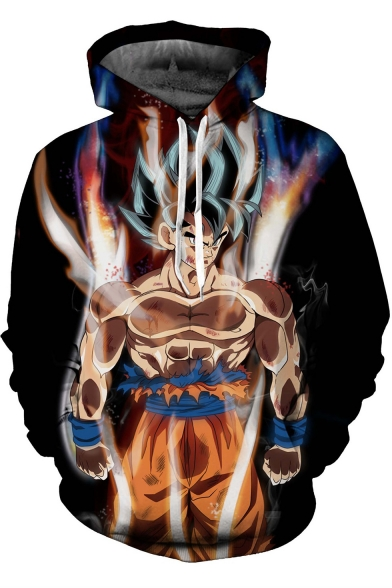 Cool 3D Comic Character Printed Long Sleeve Pullover Sport Casual Hoodie