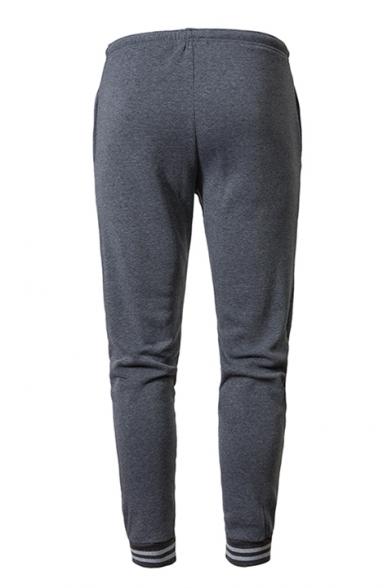 Popular Character Printed Drawstring-Waist Outdoor Sport Cotton Slim Fit Sweatpants