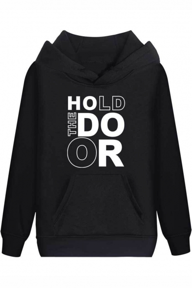 Game of Thrones Cool Unique Letter HOLD THE DOOR Print Regular Fit Hoodie, Black;pink;red;white;gray;navy
