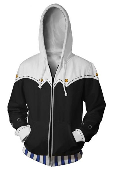 Persona 5 3D Printed Comic Cosplay Costume Sport Casual Zip Up Black Hoodie