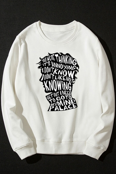 Doctor Who Fashion Letter Print Round Neck Long Sleeve Loose Fit Sweatshirt