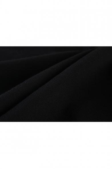Overwatch Game Logo Popular Letter DVA I PLAY TO WIN Print Basic Long Sleeve Black Hoodie