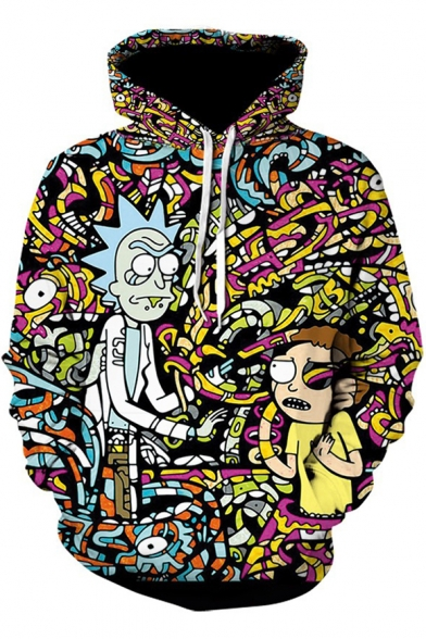 Rick and Morty Fashion 3D Comic Printed Basic Long Sleeve Sport Pullover Hoodie