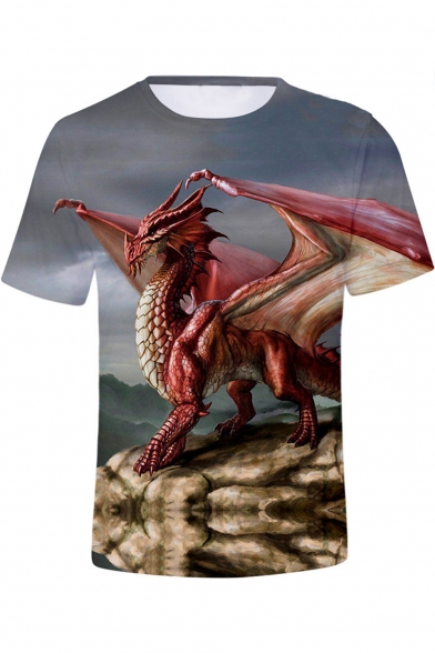 Dungeons and Dragons Cool 3D Printed Unisex Short Sleeve T-Shirt