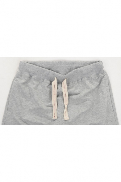 Street Fashion Letter NEW YORK Drawstring Waist Loose Relaxed Sweat Shorts