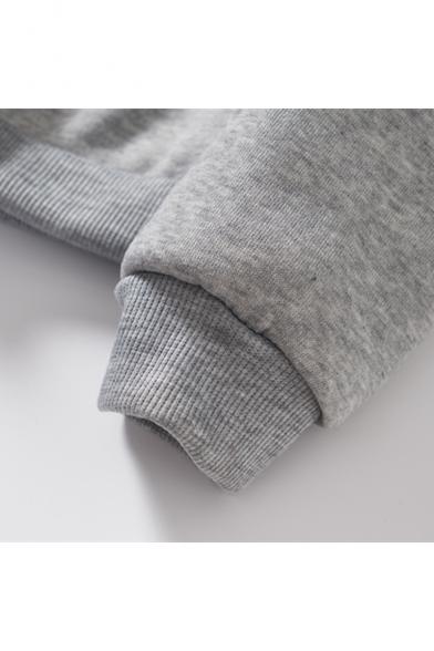 Norwegian DJ Double W Logo Printed Long Sleeve Unisex Casual Pullover Hoodie