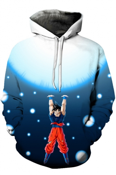 Dragon Ball Fashion 3D Comic Character Printed Long Sleeve Sport Casual Hoodie