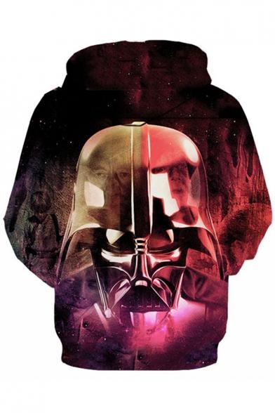 Star Wars Darth Vader 3D Galaxy Printed Basic Long Sleeve Relaxed Fit Purple Hoodie