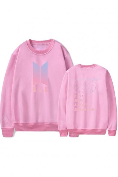 Boy Band Logo Popular LOVE YOURSELF Letter Long Sleeve Loose Sport Round Neck Pullover Unisex Sweatshirt