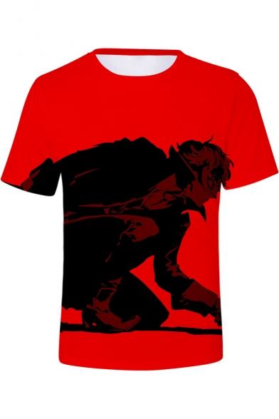 Persona 5 Popular Game Figure Print Basic Round Neck Short Sleeve T-Shirt