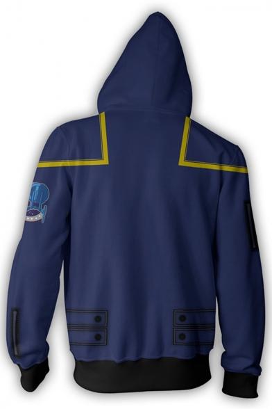 Star Trek Popular Film Cosplay Costume Zip Up Blue Hoodie